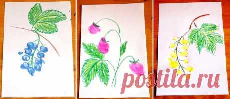 Пальчиковое рисование для малышей. Раскраски за пару минут | Поделки, рукоделки, рецепты | Яндекс Дзен