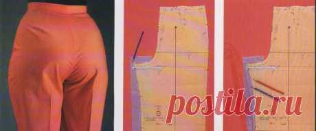 Устраняем дефекты брюк - просто Исправить неправильную посадку брюк не так сложно как кажется на первый взгляд  В схемах ниже - самые распространенные ситуации и способы устранения проблем