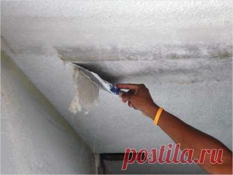 Почему штукатурка осыпается с потолка: предотвращаем проблему заранее — Строительство и отделка — полезные советы от специалистов