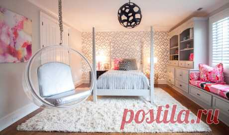 Дизайн спальни для девушки в современном стиле (38 интерьеров) ⭐ Забавник