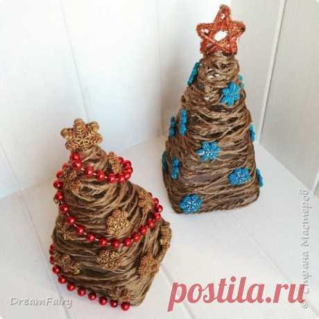 Новогодняя елка из ниток своими руками Мастер-класс   Страна Мастеров