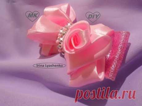 Bow from satin ribbons of MK\/DIY Satin ribbon bow\/PAP LAÇO BOUTIQUE ESTILO #98
