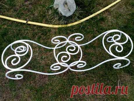 Кованная подставка на 3 вазона. Украсьте свой сад!