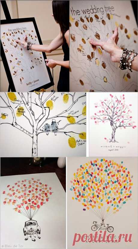 Tree of wishes with unique leaflets prints!