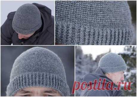 Мужская шапка спицами (110 фото): схемы с описанием и пошаговыми инструкциями