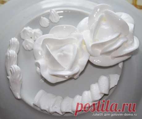 Заварной белковый крем для украшения торта - 1000