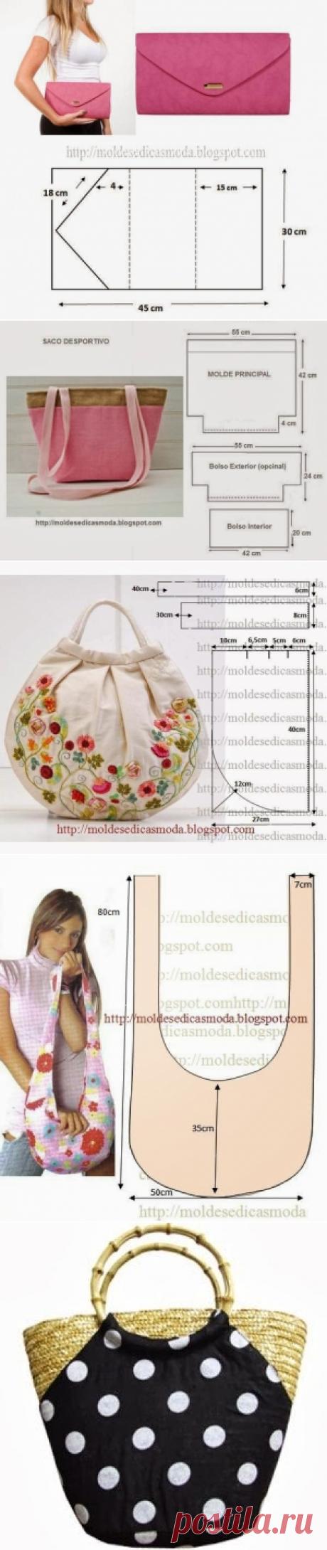 Интересные сумки с выкройками