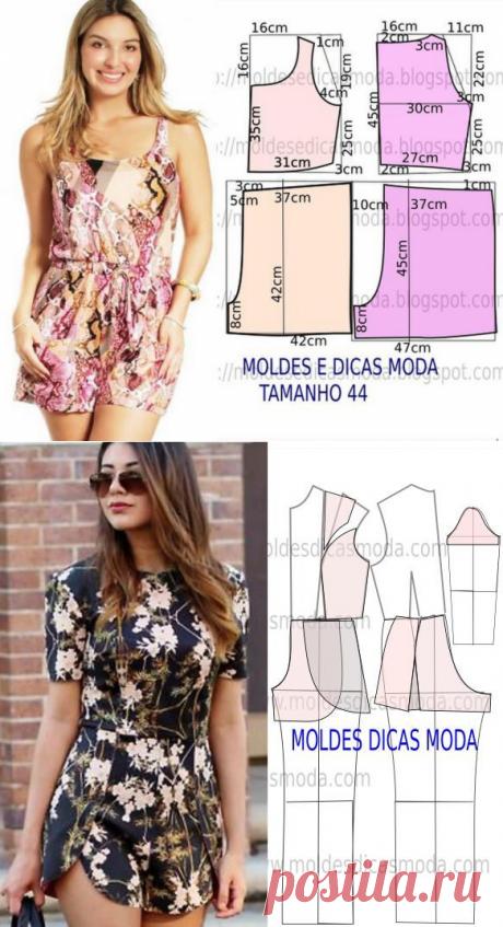 Женские комбинезоны с шортами: как моделировать — Сделай сам, идеи для творчества - DIY Ideas
