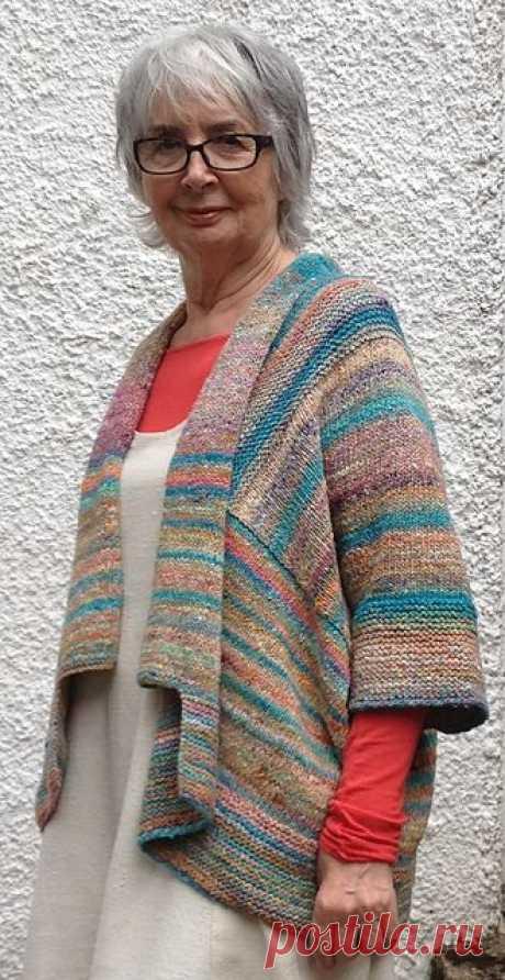 Ravelry: Kimono Cardigan pattern by Linda de Ruiter  5.00 | KNITTING:  SWEATER / CARDIGAN | Кимоно Кардиган, Кимоно и Узор Кардигана