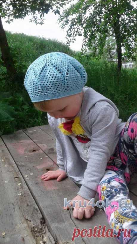 Детский берет крючком. Работа Юлии Ковалевой
