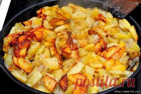 Правила жарки вкусного картофеля.
