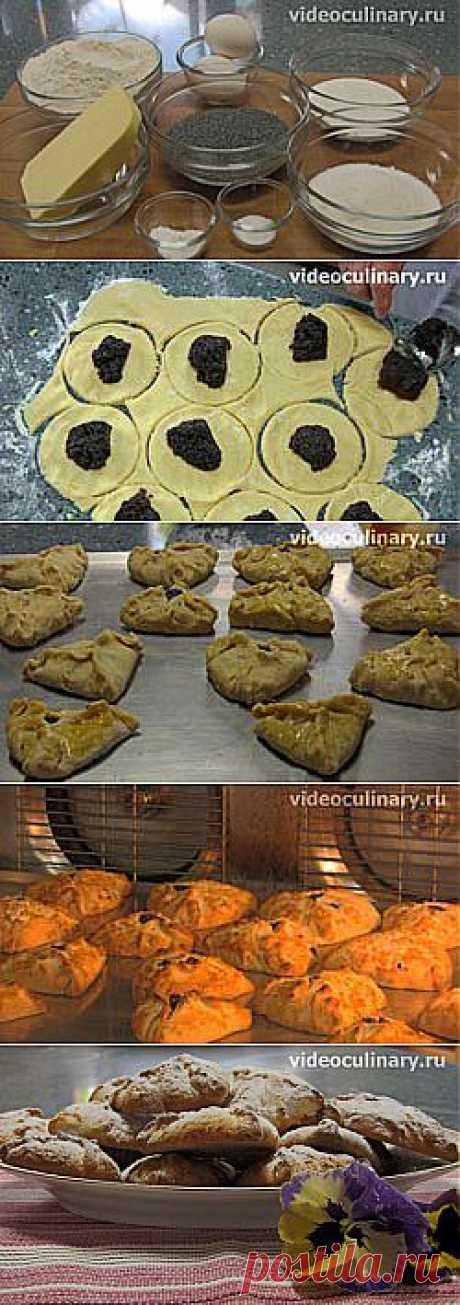 Треугольнички с маком. (Оменташен) - Видеокулинария.рф - видео-рецепты Бабушки Эммы | Видеокулинария.рф - видео-рецепты Бабушки Эммы