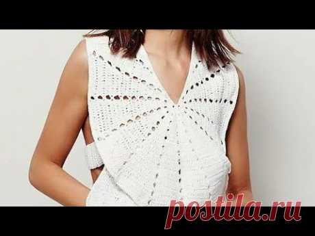 Топы - Вязание Крючком - модели 2020 / Tops Knitting Crochet patterns