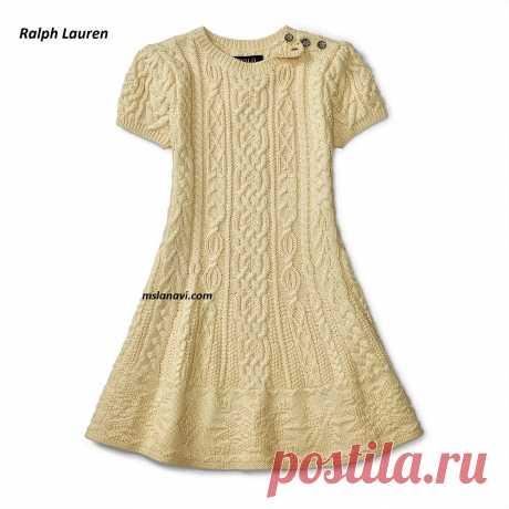 Платье спицами для девочки | Вяжем с Лана Ви