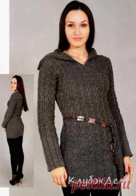 Вязаный пуловер женский. Вязание пуловера спицами для женщин