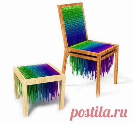"""Baita - стулья из шнурков / Мебель / """"Вторая улица"""" - мода и интерьер своими руками!"""