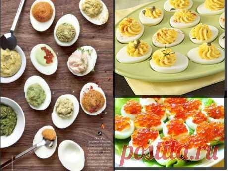 Идеи начинки для фаршированных яиц.