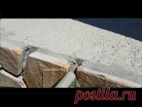 Приспособа для затирки швов кладки из натурального камня