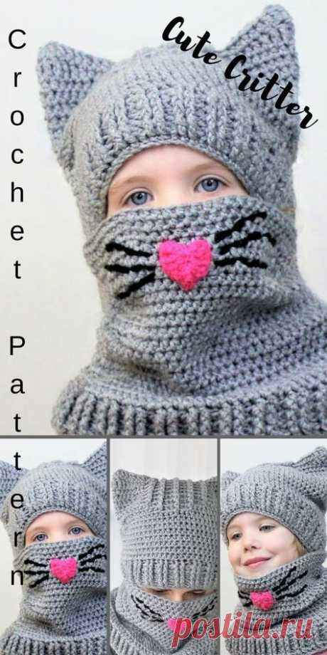 45 Trendy crochet hat animal cowl patterns