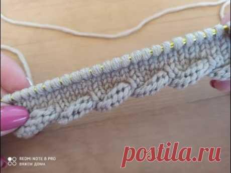 Вяжем спицами простой и оригинальный край для начала вязаного изделия.