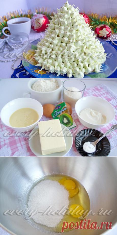 """La torta de \""""Elochka\"""" para Nuevo año: la receta de la foto poshagovo"""