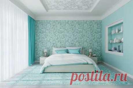 Голубые обои в спальне: как создать теплую и уютную обстановку (40 фото) - cozyblog - медиаплатформа МирТесен