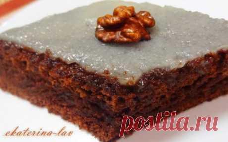"""Влажный шоколадный пирог без яиц на воде """"Фаворит"""""""
