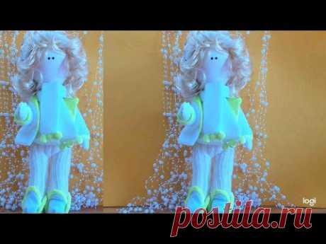 "Обзор текстильной интерьерной куклы ""Снежана"" Overview of interior textile dolls"