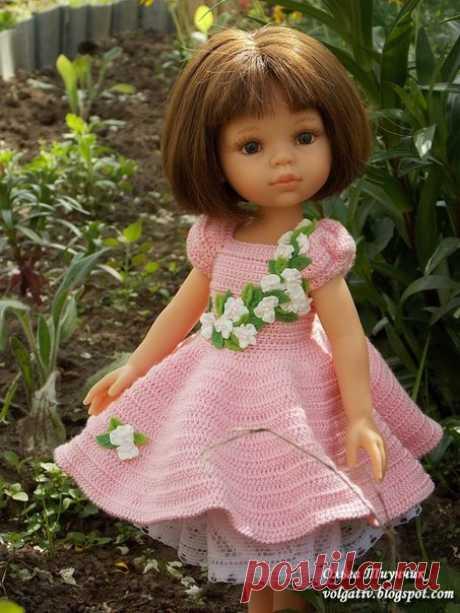 """Запись на стене описание платья """"Весна"""" Ольги Тиунчик в группе Алины игрушки - вязание для кукол смотрите по ссылкам нижеМы вязали крючком платье """"Весна"""" для кукол типа Paola ReinaЭтапы:1. https://vk.com/volgativ?w=wall-106078455_2119 2. https://vk.com/volgativ?w=wall-106078455_2191 3. ht.."""