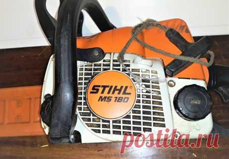 Как поменять шнур стартёра на STIHL MS 180.   ElektroTechLife   Яндекс Дзен