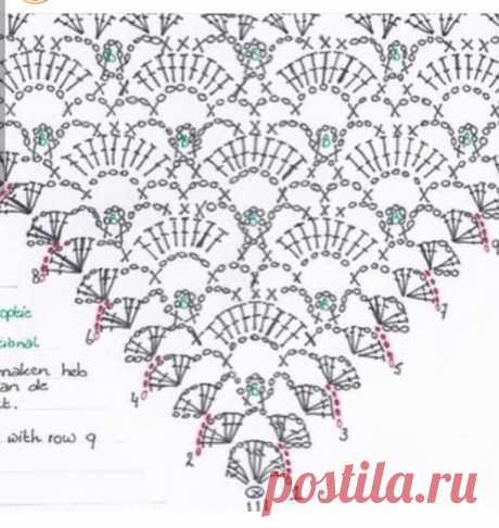 """""""ШАЛЬная"""" осень  Схемы для вязания шалей"""