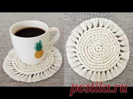 DIY como hacer POSAVASOS en MACRAME (paso a paso) | DIY Macrame Coasters