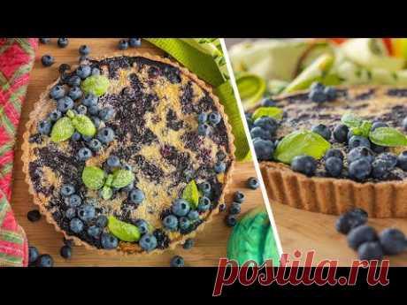 Просто и быстро! Заливной ПИРОГ с ягодой   ягодный тарт с голубикой   простой рецепт без сахара