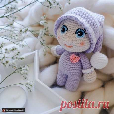 Малышка в сиреневом костюме вязаная купить в Беларуси HandMade