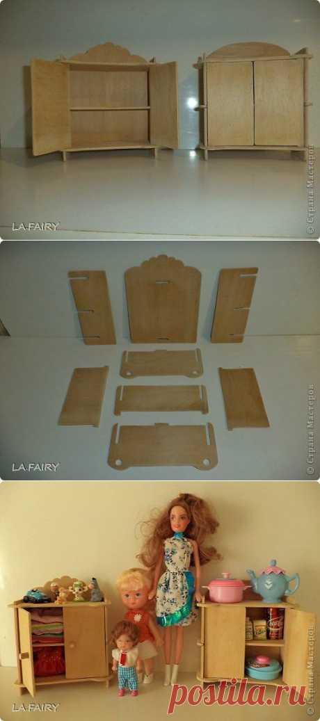 Мебель для кукол. Как сделать маленький шкафчик. | Страна Мастеров