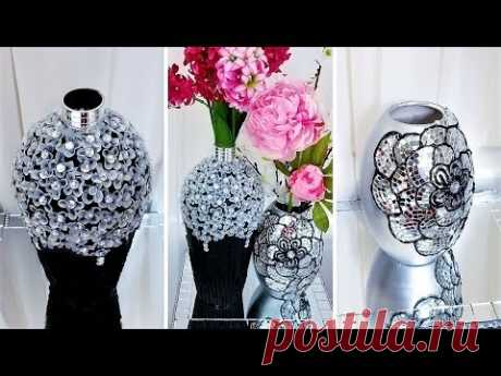 DIY DECORATIVE VASES | BEST OUT OF WASTE| COLLABORATION WITH UNICAR DIY| Home Decor Trend 2019