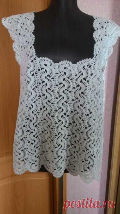 Блуза, ленточное вязание.