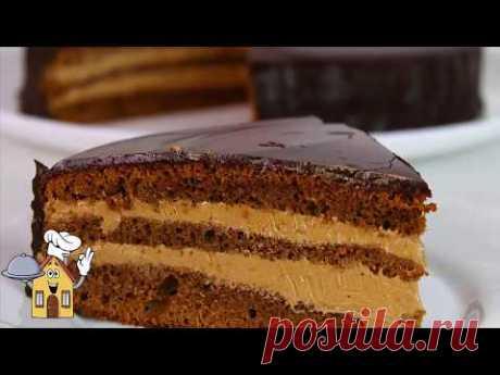 """Торт """"Прага"""" Очень вкусный и сочный! Простой рецепт!"""