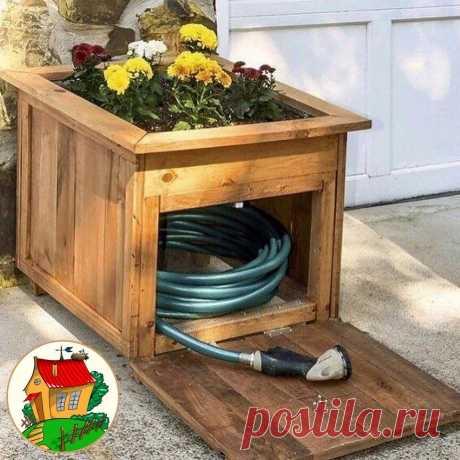 #дача  Идеи для хранения садового инвентаря