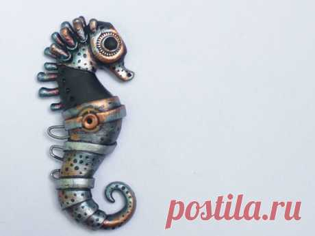 Мастер-класс : Лепим морского конька в стилистике биомеханика | Журнал Ярмарки Мастеров