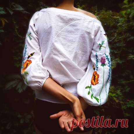 Хозяйка ателье заказа вышивку на блузке и ее мнение постоянно менялось! Как думаете, понравился ей результат или нет?   VERA KRIVOLAP   Яндекс Дзен