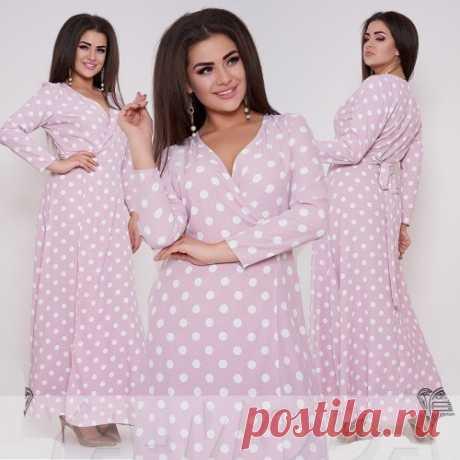 Платье халат в крупный горох размер плюс : новинки шикарных платьев в больших размерах. Доставка.