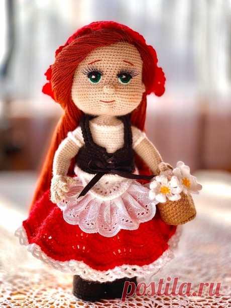 Красная Шапочка. Вязаная игрушка крючком. #КраснаяШапочка. #Вязанаяигрушкакрючком. #Вязанаяигрушка. #Вязанаякуклакрючком. #кукла. #куколка. #вязание. #вязанаякуколка. #вязанаяжизнь. #вязанаякраснаяшапочка. #амигурумиигрушка. #амигурумикукла. #амигурумикуколка. #мастерклассповязаниюкрючком #вашиработы #хвастики #вашихвастики