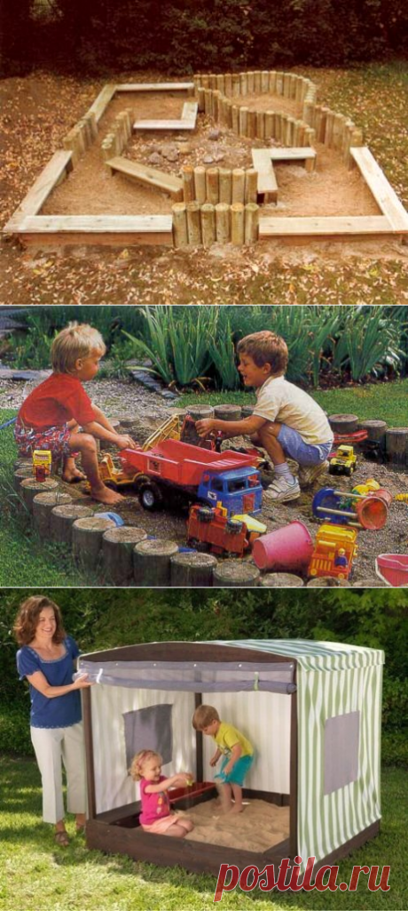 Песочница на даче для малышей — 6 соток