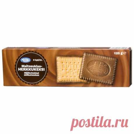 Шоколадное печенье 125 г, предпочтительно Tokmannilta