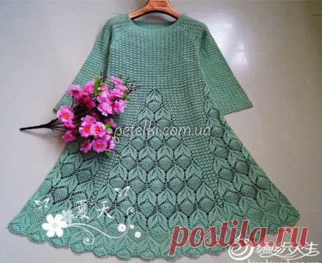 Очень красивое платьице крючком. Схемы