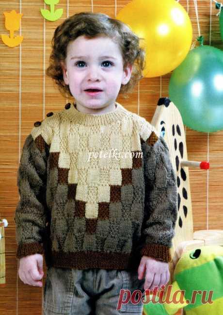поиск на постиле вязание спицами свитера для мальчика