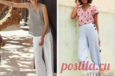 Как носить светлые льняные брюки: 5 актуальных образов | Краше Всех