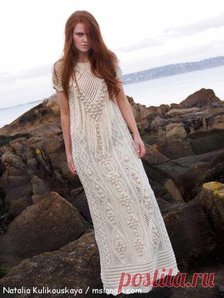 Дизайнерское вязаное платье Натальи Куликовской | Вяжем с Лана Ви