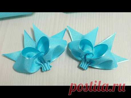 Amazing Ribbon Bow - Easy Bow Making with Ribbon - Hand Embroidery Amazing Trick with Ribbon Bow